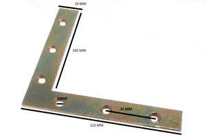 Flat Corner Brace Bracket 125mm X 20mm X 2.5mm 6mm Hole YZP Pack Of 200