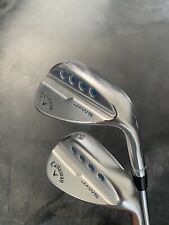 Callaway MD5 JAWS 54/58* Sand/Lob Chrome Wedge Set S Grind Tour issue S400 55/60