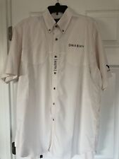 Beretta Mens Shooting Shirt Size L Light Tan Vented Button Down Embroidered