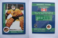 2015 SCA Wendell Young vancouver canucks goalie never issued produced #d/10