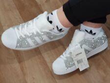Details zu Schuhe Adidas Superstar mit Lasche mit Glitzer Bunt und Sporcatura