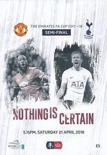 FA CUP SEMI FINAL 2018 Tottenham Hotspur v Manchester United