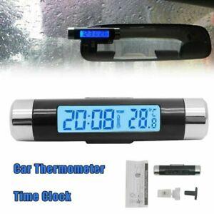 Auto KFZ Thermometer digital LCD Temperatur Anzeige Messer Termometer + UHR DE