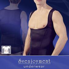 Svenjoyment Mieder Bauch-weg Top Shirt Hemd tiefer Schnitt GAY SEXY NEU in XL