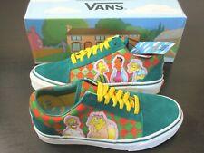 Vans x The Simpsons Womens Old Skool Moes Tavern Skate shoes Green Size 7 NIB