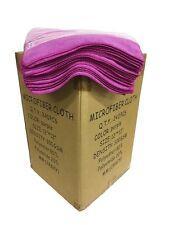 "240 Microfiber 12""x12"" Purple Cleaning Detailing Cloths Towels Auto Car 300GSM"