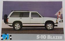 S-10 S 10 BLAZER SUV NOS SHOWROOM PROMO 1991 91 CHEVY DEALER DEALERSHIP POSTCARD