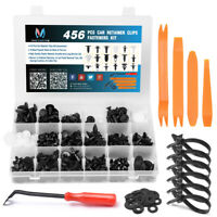 456pcs Car Retainer Clips Fastener Door Trim Panel Push Remover Pry Rivet Kit