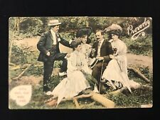 Trichromatic Postcard ALL'S WELL THAT ENDS WELL Edwardian Ladies & Gents JWS2782