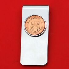 US Department of Treasury Seal Mint Token Coin Solid Brass Silver Money Clip NEW