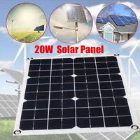 20W 18V Flexible Solar Panel Regulator Trickle Battery Charger RV Complete Kit