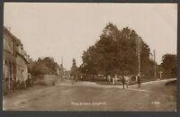Postcard Clophill near Ampthill Bedfordshire cattle on The Green posted 1918 RP