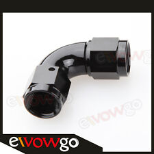 90 Degree AN-10 AN10 To AN10 10AN Female To Female Full Flow Adapter Black