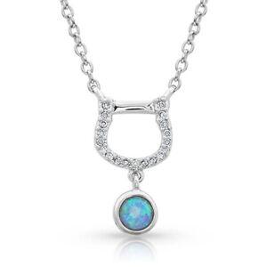 Montana Silversmiths Horseshoe Opal Necklace