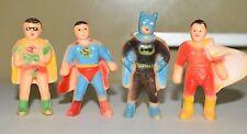 "Vintage DC Comics 2"" Pencil Toppers  BATMAN ROBIN SHAZAM SUPERMAN (Lot of 4)"