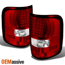 2004-2008 F-150 F150 Red Clear LED Tail Lights Lamps Left+Right 2005 2006 2007