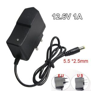 DC 12.6V 1A Power Supply Adapter 18650 Battery Charger Plug for Electric Drill
