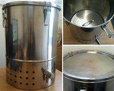 Deluxe STAINLESS STEEL BOKASHI COMPOSTER Indoor Compost Bin, Kitchen Scraps, NEW