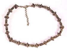 Vintage Asian Brass Beaded Necklace