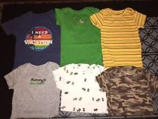 LOT of 6 ONesies shirt Miniwear Carters 12m green blue yellow EUC