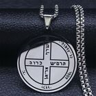 Unisex Sixth Pentacle Jupiter Seal Solomon Stainless Steel Necklaces Jewelry
