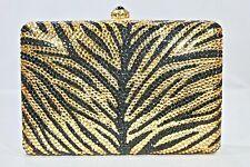 Fully Crystallized Evening Bag Animal Print Rectangular with Swarovski Crystals