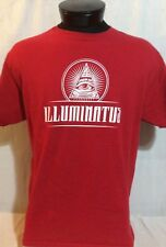Red Illuminati Illuminatus T-Shirt Large