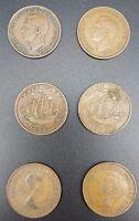 Replacement Shove Ha'penny Board Coin Set - Shove Halfpenny, Genuine Pre 1967