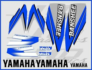 yamaha banshee full graphics decals kit 1998 blue THICK AND HIGH GLOSS