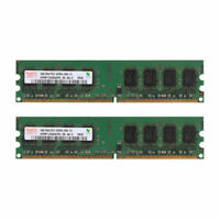 For Hynix DDR2 4GB 2x2GB 800MHz Desktop PC Memory PC2-6400 SDRAM 240pin DIMM Lot