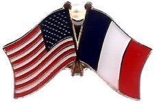 USA American France Flag Bike Motorcycle Hat Cap lapel Pin