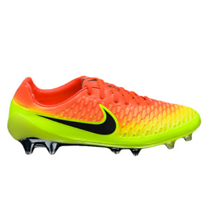 Nike Magista Opus FG Men's Crimson Volt Citrus Black Soccer Cleats Football Shoe