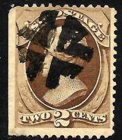 "Sc #146 Fancy Cancel ""Bold Crossroads"" SON 2 Cent 1875-1879 US Stamp 9252"