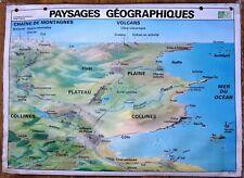 carte d'école - grande affiche scolaire - paysages géographique