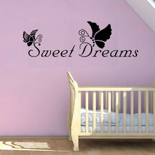 Sweet Dreams Butterfly Bedroom Vinyl Wall Stickers Removable Mural Decal Decor
