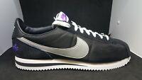 Men's Nike Cortez Basic Los Angeles Shoes Black Silver White CI9873 001