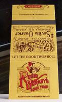 Rare Vintage Matchbook Cover R3 Orlando Pensacola Florida Rosie O'grady's Good T