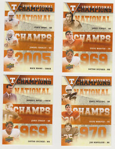2011 UPPER DECK UNIVESITY OF TEXAS NATIONAL CHAMPIONS TRIOS SET