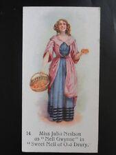 Single: No.14 MISS JULIA NEILSON - Players Past & Present - John Player 1916