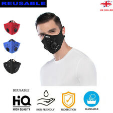 Face Mask Breathable Valve Filter Reusable Protective Allergy/Asthma/Cycling