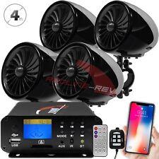 1000W Amp Waterproof Bluetooth Motorcycle Stereo 4-Speakers Audio System ATV UTV
