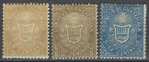 Guatemala Scott 1-3 MH LotBDP13940