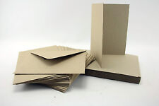 Pack of 50 Blank Natural Kraft Recycled Cards and Envelopes 280 gsm C6 A6