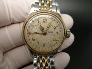 ORIS 2 TONE GOLD PLATED & STAINLESS STEEL SWISS 2824 AUTOMATIC BOY SIZE WATCH