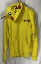 Pokémon Yellow Pikachu  Zip Up Hoodie-Pikachu Face And Ears-Adult Medium