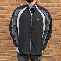 Nike Gold Tick Black And Grey Windbreaker Gold Swoosh - Mens Large