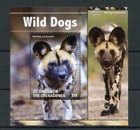 St Vincent & The Grenadines 2015 MNH Wild Dogs 1v S/S I Wild Animals