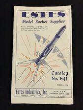 Vintage Estes 1963 Model Rocket Rocketry Catalog