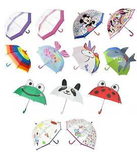 Childrens Clear Bubble Dome Kids Umbrella Boys Girls Brolly School Travel