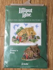 Anchor 14 Count Cross Stitch Lilliput Lane Penny's Post Office Village 20 x 27cm